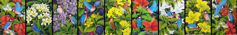 バリの花鳥画
