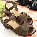 Leather heel sandals with uppers of belt ornament, point ♪ moderate heel leads! TODAYS ★ TODAYS made in Japan ★ 5596 * no refunds / Exchange round-trip shipping customers burden * we publish race PON unavailable