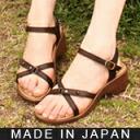 Fluffy Sandals aka elastic 6 cm heel is super comfortable プラットフォームコンフォート ★ 0248-friendly Shoe Studio Belle and Sofa original