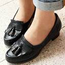 Design タッセルヒールローファー leather loafer from to the point! ★ 6611 friends maker fs3gm