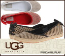 ▼Latest model arrival ▼ UGG Australia INDAH BURLAP indaba lap espadrille canvas slip-on shoes 1004329 flat mouton sheepskin shortstop /s