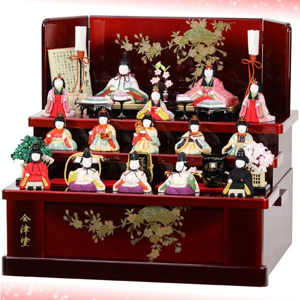 雛人形木目込み3段飾りメイン