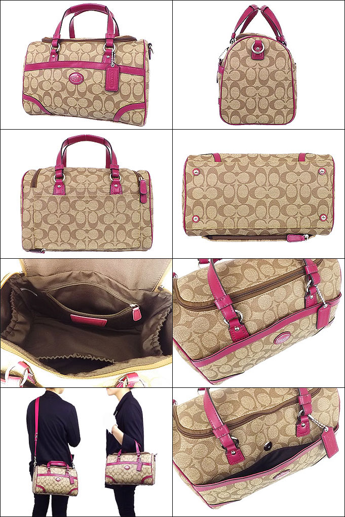 coach diaper bag outlet factory kcr7  [COACH] coach bag bag F77333 77333 khaki / magenta Peyton signature train  case outlet products