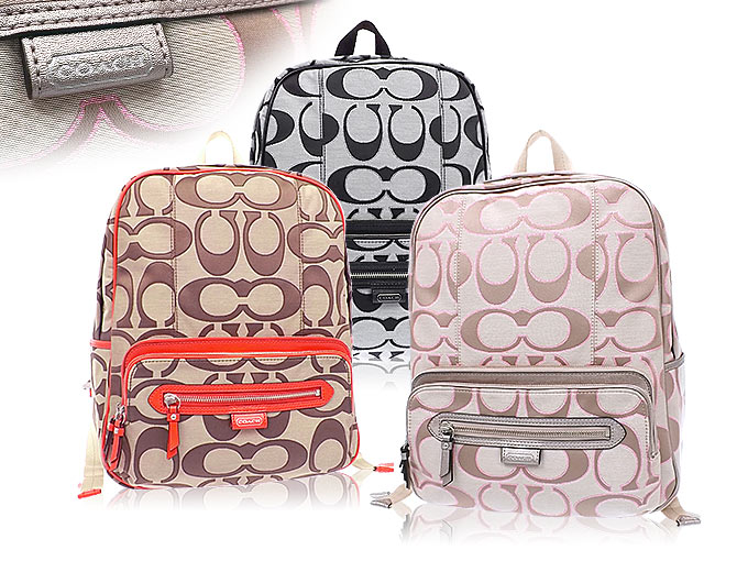 backpack coach outlet v27t  Coach COACH  bag backpack F24367 24367 khaki x Vermillion Daisy outline  signature backpack outlet products