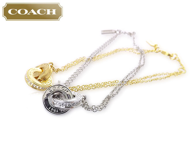 coach jewelry outlet mb4m  Coach COACH  accessories bracelets F99551 99551 Silver box link round  motif chain bracelet outlet products