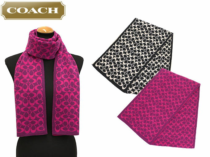 coach apparel outlet ubhs  Coach COACH  apparel muffler F86019 86019 bright very 脳 light Berry  signature logo knit muffler outlet products