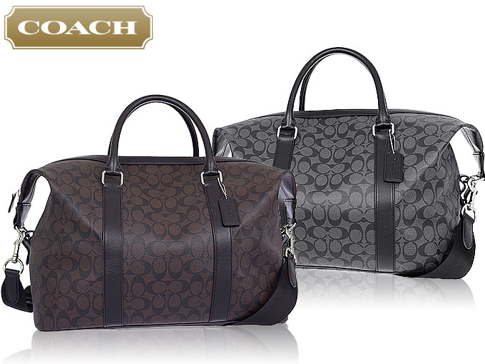 coach bag sale outlet t5nm  COACH bag coach  Boston F93456 93456 charcoal x black signature Explorer  roller Duffel outlet products
