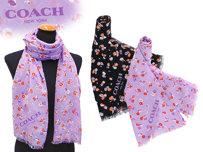 coach apparel outlet ubhs  Coach COACH  apparel scarf F77777 77777 lilac vintage floral oblong  scarf outlet products