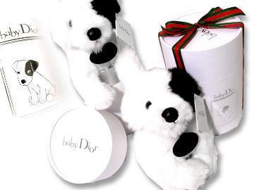 ベビーディオール【babydior】おもちゃ【ホワイト×ブラック Diorドッグぬいぐるみ 小 専用ボックス付】