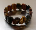 Tiger eye stone three bracelets bangles