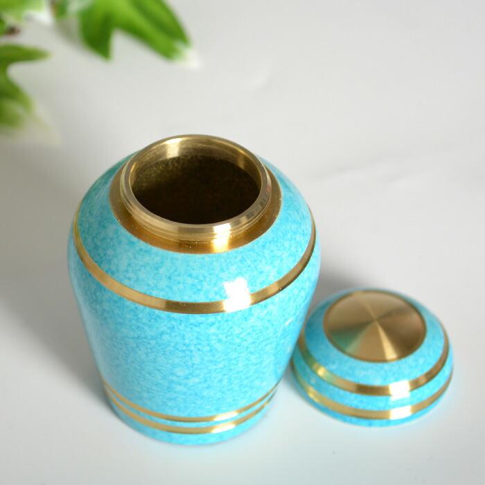 mini-funerary urn sky blue