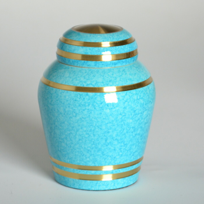 mini-funerary urn sky blue
