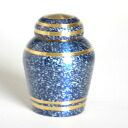 Funerary urn mini-starlight blue hand memorial service memorial