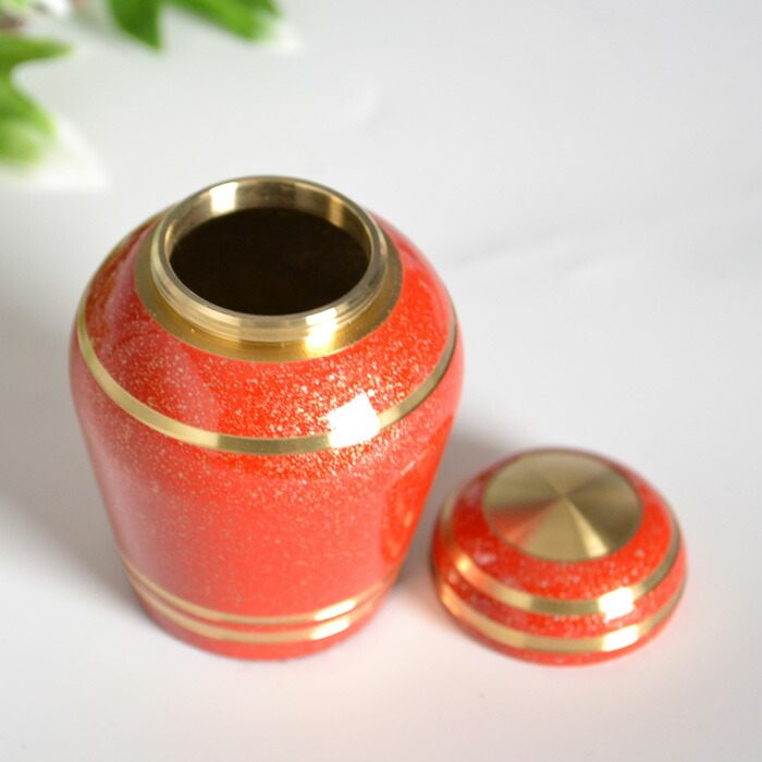mini-funerary urn red