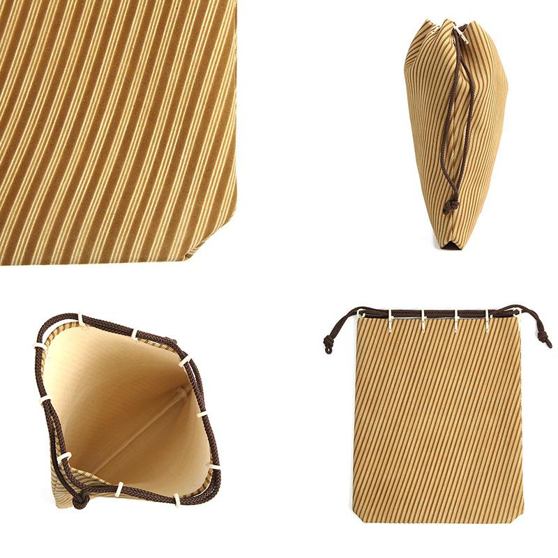 印傳屋(INDEN-YA) 印伝 本鹿革 合切袋 燻(ふすべ)シリーズ 送料無料 印傳 7109