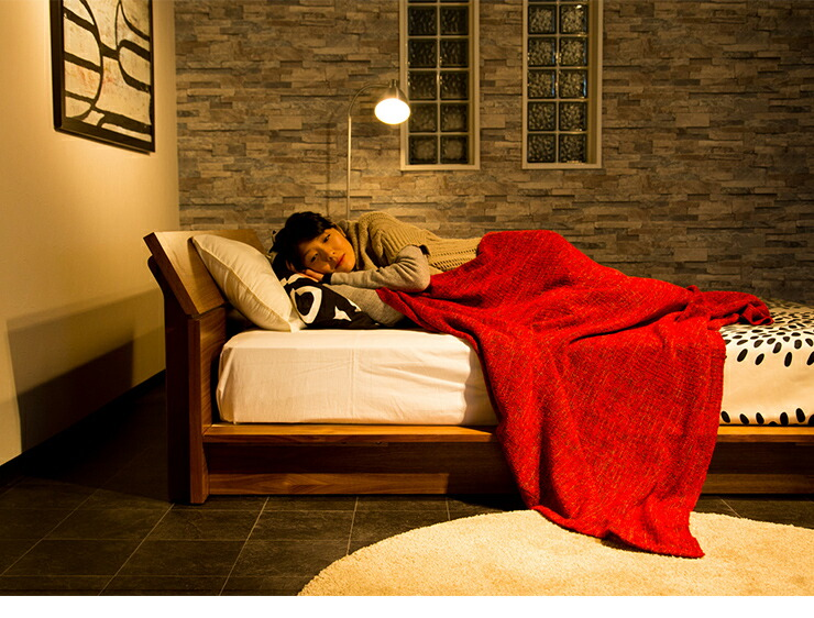 ベッド ダブル ロー ベッド ...
