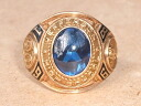 It is made in JOSTENS( Justin's) real thing vintage college ring 1986