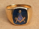 FREEMASON (Freemasonry) real vintage gold ring 18 K (18 k gold)