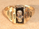 It is made in JOSTENS( Justin's) real thing vintage college ring 1974