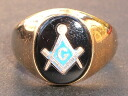 Money of FREEMASON( Freemason) real thing vintage Goldring 18K(18)