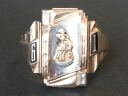 JOSTENS (justins) 1961-real vintage College ring 10 K (10 gold)