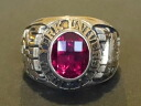 Money of real thing vintage college ring 18K(K18) made in JOSTENS( Justin's) New York University( New York University) 1972