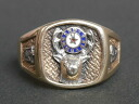 Manufacturing maker unknown 1950's - 1970's of real vintage College ring 10 K (K10 gold)