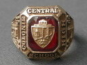 HERFF JONES (made by haefjons) Colonie Central High School (Colonie Central High School) in 1968, made of real vintage College ring 10 K (K10 gold)