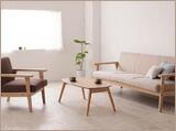 ナチュラルインテリア 天然木製ソファ 北欧家具