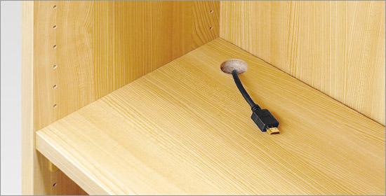 タフ棚板穴加工