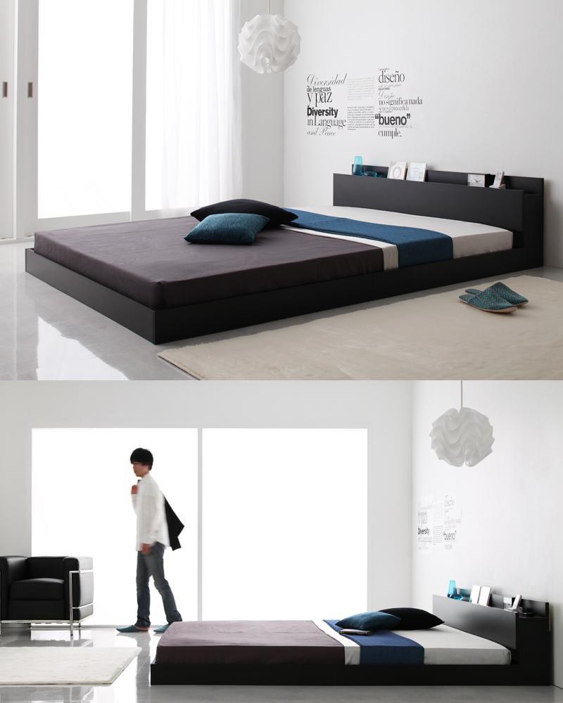 クールなデザインのフロアベッド