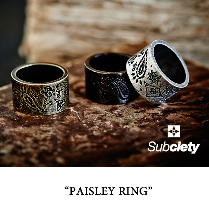 SUBCIETY(サブサエティ)PAISLEY RING【2016SUMMER新作】【即発送可能】【SUBCIETY ...