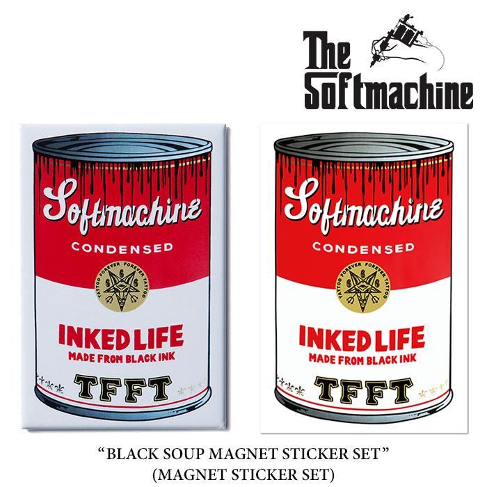 SOFTMACHINE(ソフトマシーン)BLACK SOUP MAGNET STICKER SET(MAGNET STICKER SET)...