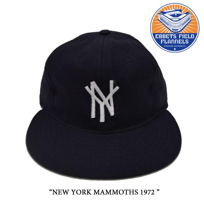 EBBETS FIELD FLANNELS(エベッツフィールドフランネルズ)NEW YORK MAMMOTHS 1972【...