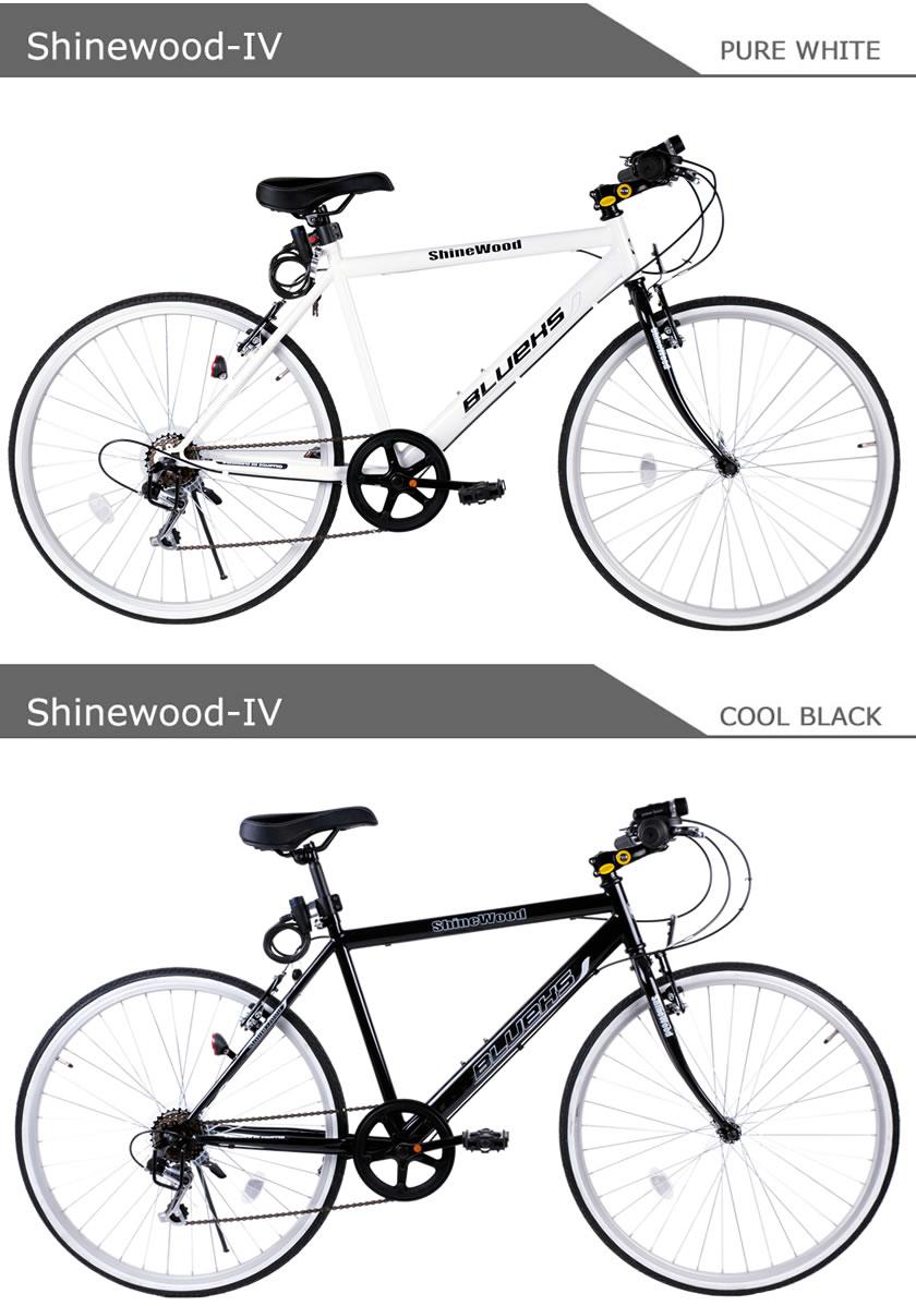 自転車 SHINEWOOD クロスバイク26 ...