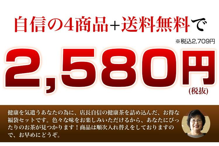 自信の4商品+送料無料で2,380