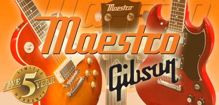 Gibson�ץ�ǥ塼�� �������֥��� Maestro �Ĥ������ܾ�Φ��