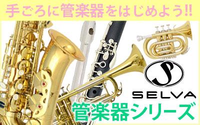 手ごろに管楽器をはじめよう!!・SELVA 管楽器シリーズ