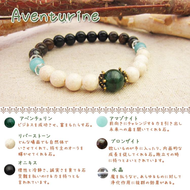 1000円天然石手作りブレスキットアベンチュリン