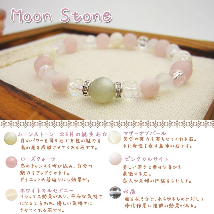 1000円天然石手作りブレスキットムーンストーン