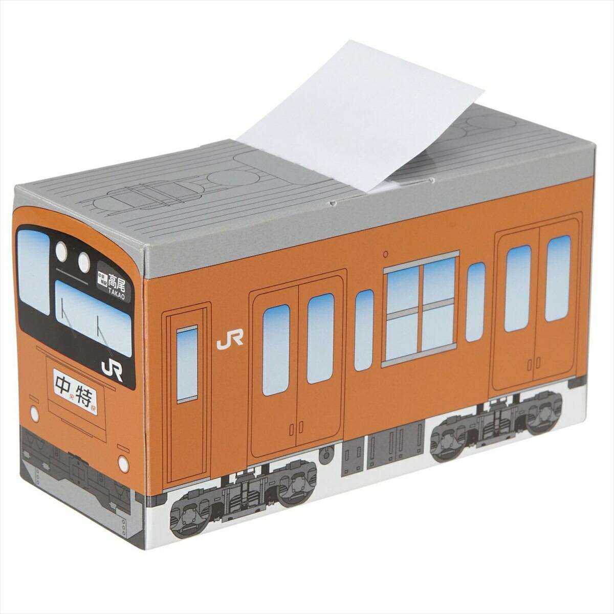 電車型ボックス入り付箋 中央線