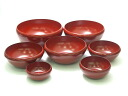 Your favorite Bowl seven nested Zhu [Kyoto lacquer ware Inoue Assistant Professor: lacquered Sheng bowls set (Bowl set / ōryōki) small sum with the compact storage wedding celebration within celebrations ( family) return (return celebration ) memorial gi