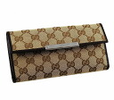 GUCCISSIMA( gucci sima)  112715 9643 W hook F40IR GG canvas X leather (beige X dark brown) deep-discount popular new SALE