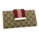 181668 8656 gucci GUCCI folio FWCZG GG canvas X leather (beige / brown) popularity new article SALE