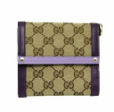 282473 8858 gucci GUCCI W hook wallet FVEMG GG canvas X leather (beige X purple) deep-discount popular new SALE