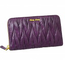miumiu Miu Miu goods cloth 5 m 0506 QI9 F0822 MATELASSE LUX lambskin ERICA (purple) popular brand new SALE