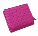Bottega Veneta two bi-fold wallets (purses with) 195432 V001N6202 lambskin (アメジステ purple) very cheap popularity