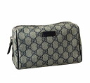 Gucci by GUCCI pouch 189819 FP47N4075 PVC coated fabric / leather (Beige / Navy) cheap popular brand new SALE