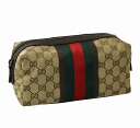 Gucci by GUCCI pouch 256637 F4CRR9791 GG canvas + leather (Beige) cheap popular brand new SALE