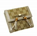 Gucci by GUCCI two bi-fold wallet 269984 FWCGG 8612 GG canvas x leather (Beige x Gold) popular brand new SALE